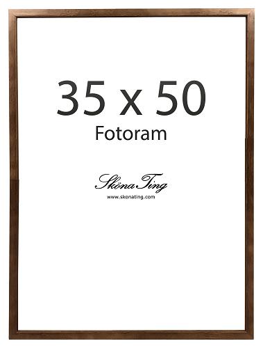 Sköna Ting Foto - Holzrahmen gross 35x50cm mit Acrylglas für Fischposter